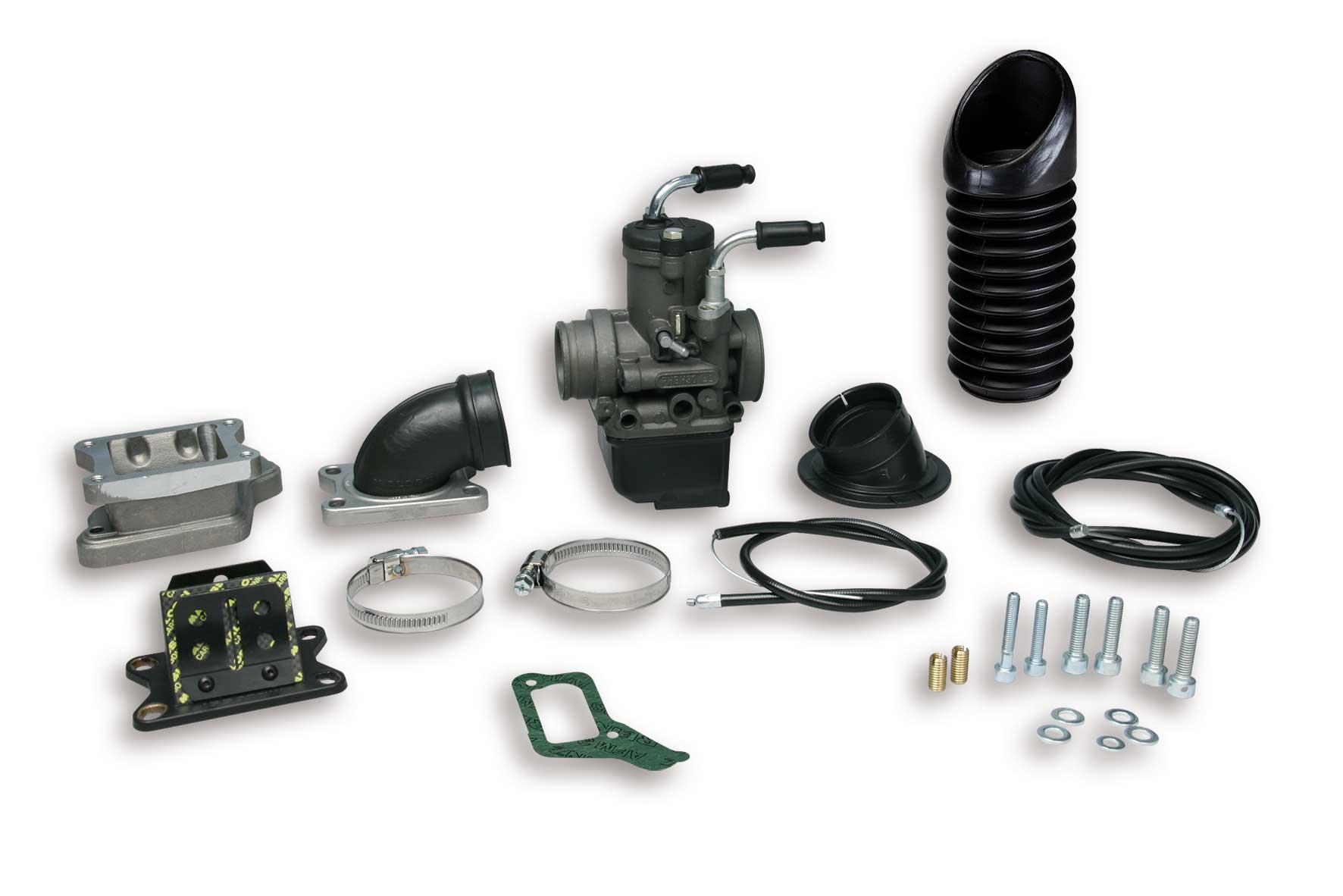 Impianto alimentazione PHBH 30 B lamellare al carter per Vespa PX E 2T 200 cc