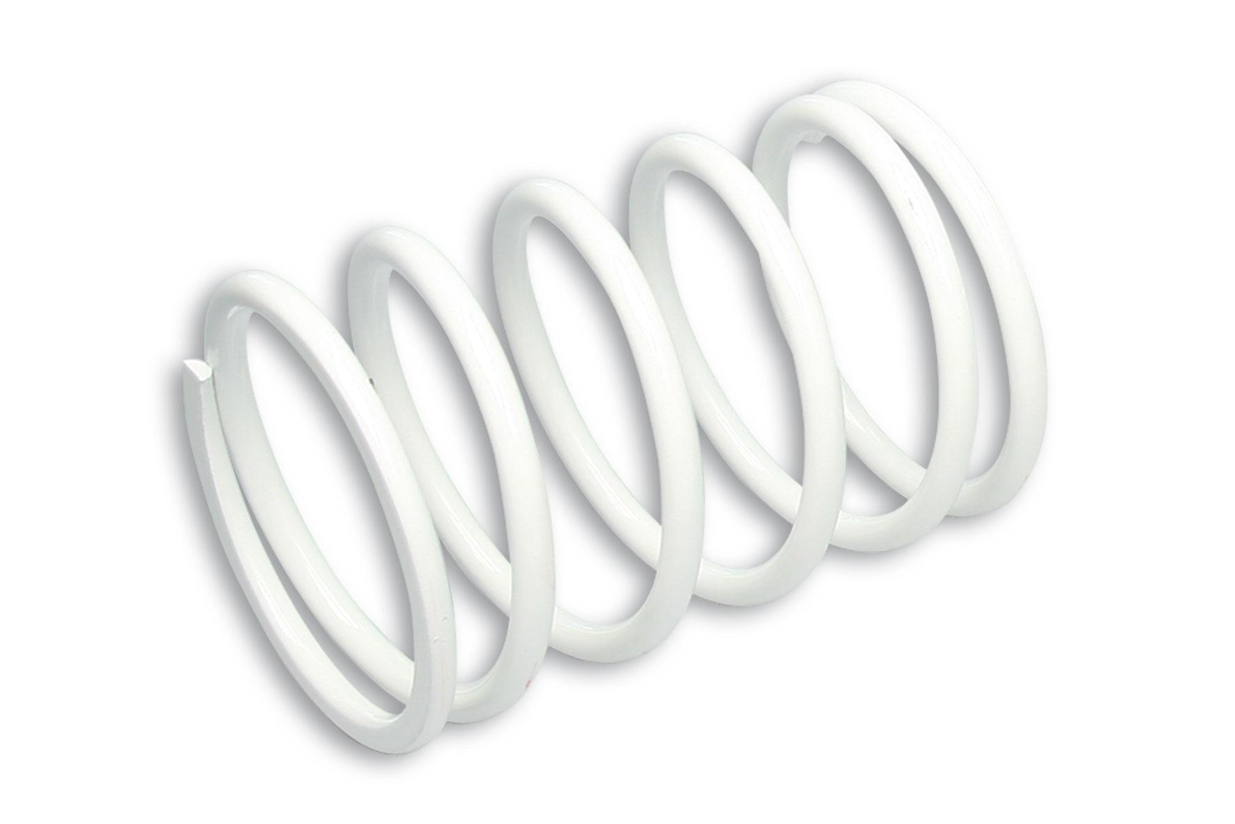 Molla di contrasto variatore bianca (Ø esterno 80,40x115 mm - Ø filo 6,5 mm - k 11,2)