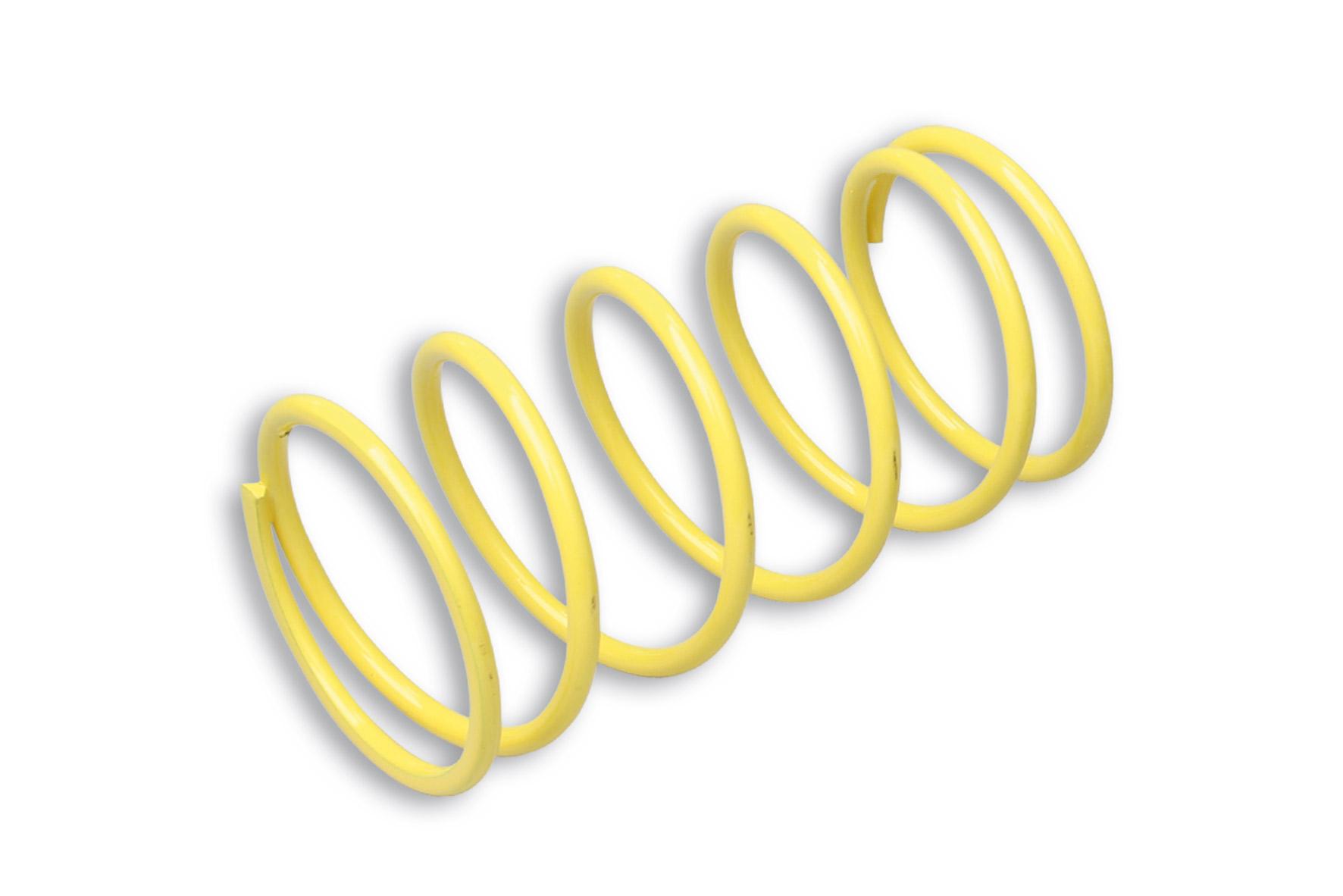 Molla di contrasto variatore gialla (Ø esterno 58x128 mm - Ø filo 4,3 mm - k 5,5)