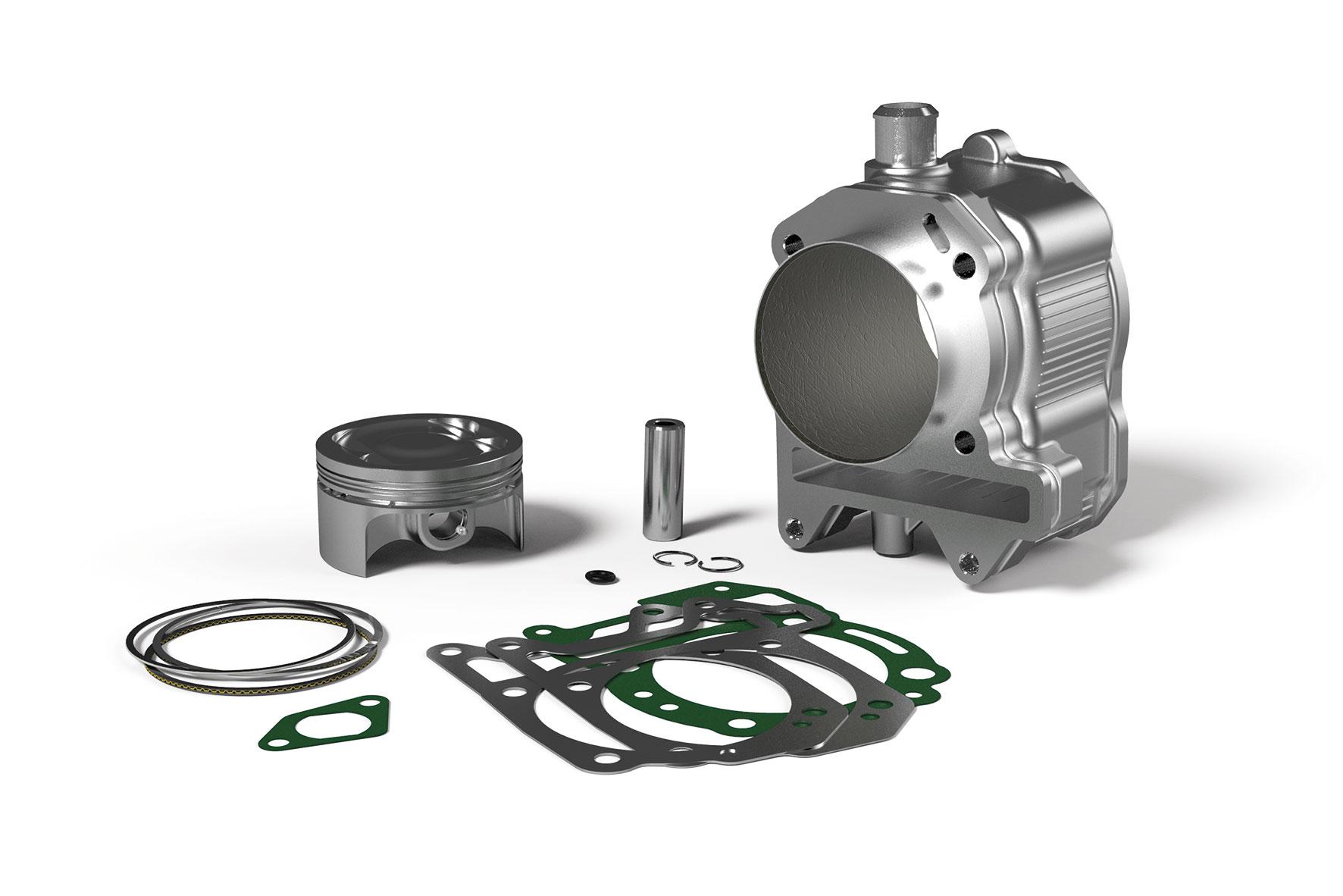 Cilindro Ø 75,5 in alluminio con spinotto Ø 15 H2O 4 - stroke