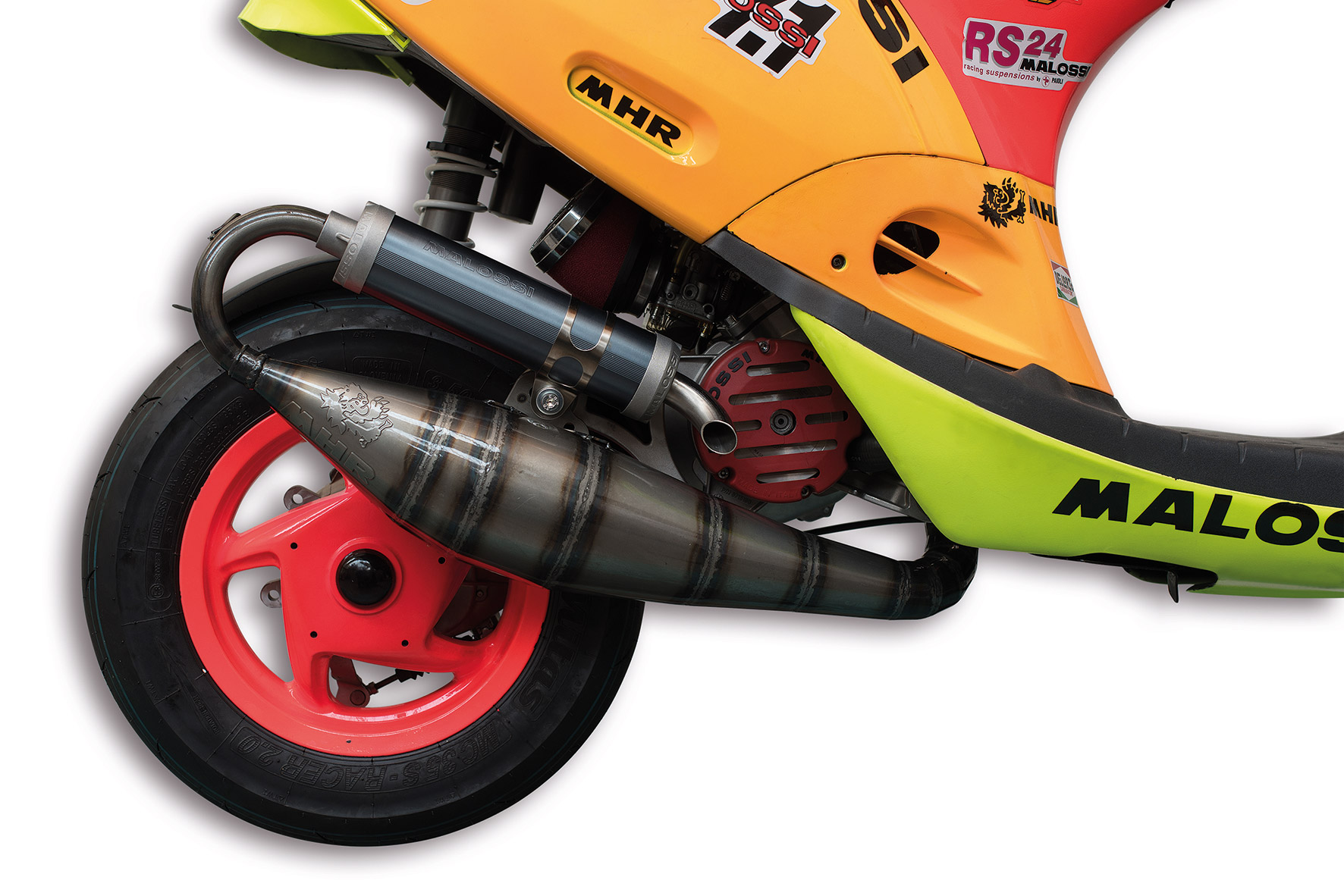 EXHAUST SYSTEM SCOOTER RACING MHR BIG BORE Ø 52