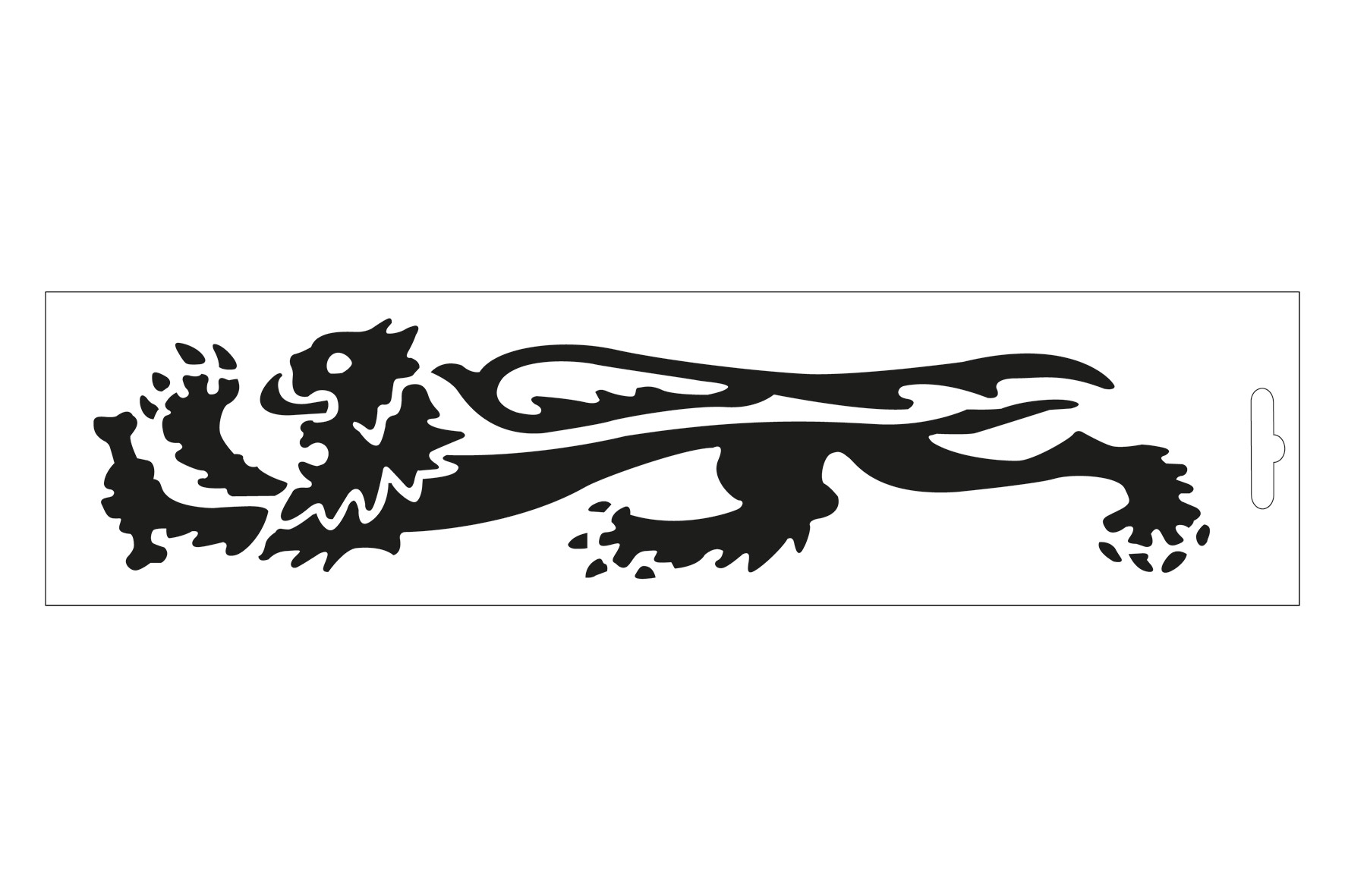 PRE-SPACED MALOSSI STICKER BLACK LION - LEFT L.23 cm H.5,3 cm