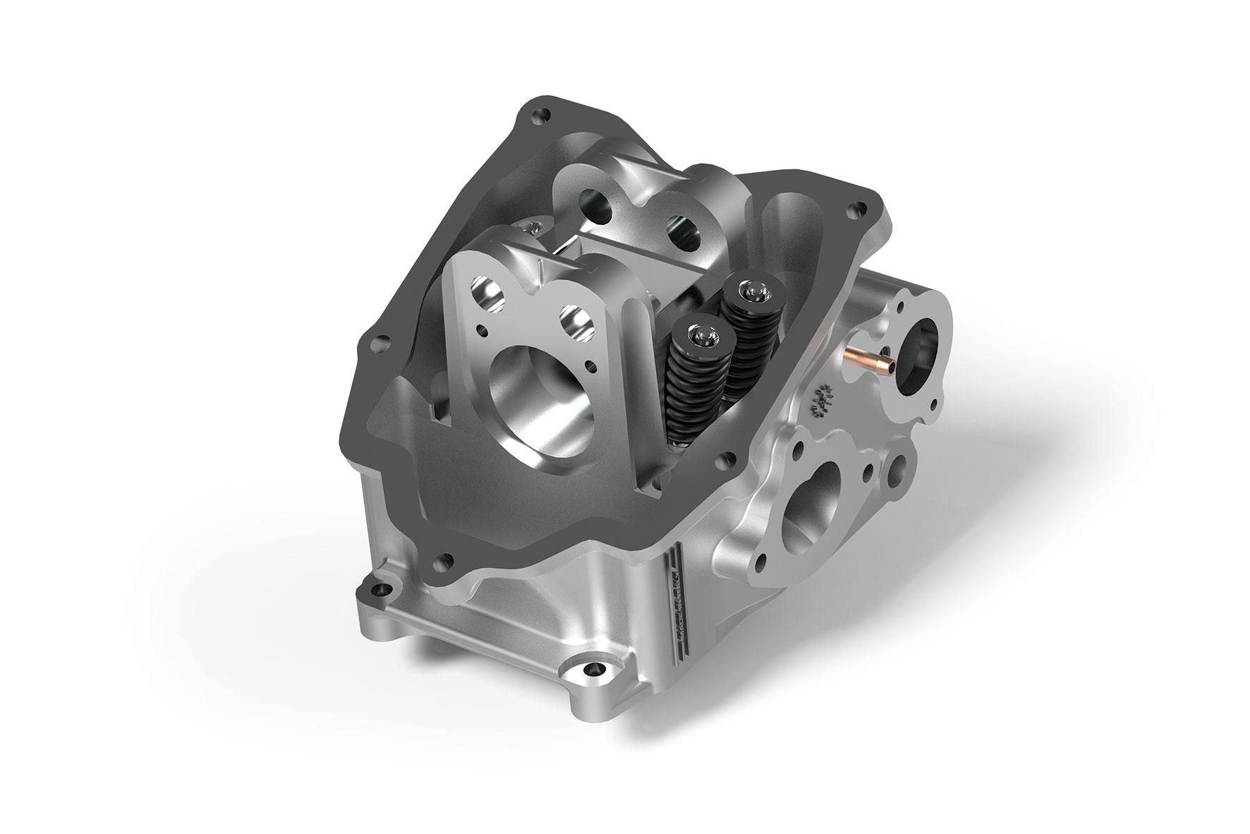 Testa V4 HEAD Ø 74 - 75,5 in alluminio ad H2O per maxiscooter da 200 a 300 cc