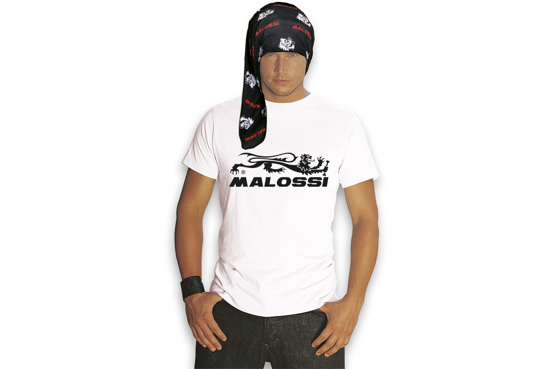 WHITE T-SHIRT MALOSSI TOP ( S )