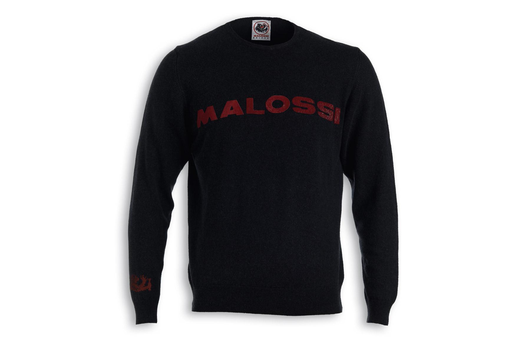 MAGLIA CACHEMIRE MALOSSI griffe NERA - LOGO ( M )