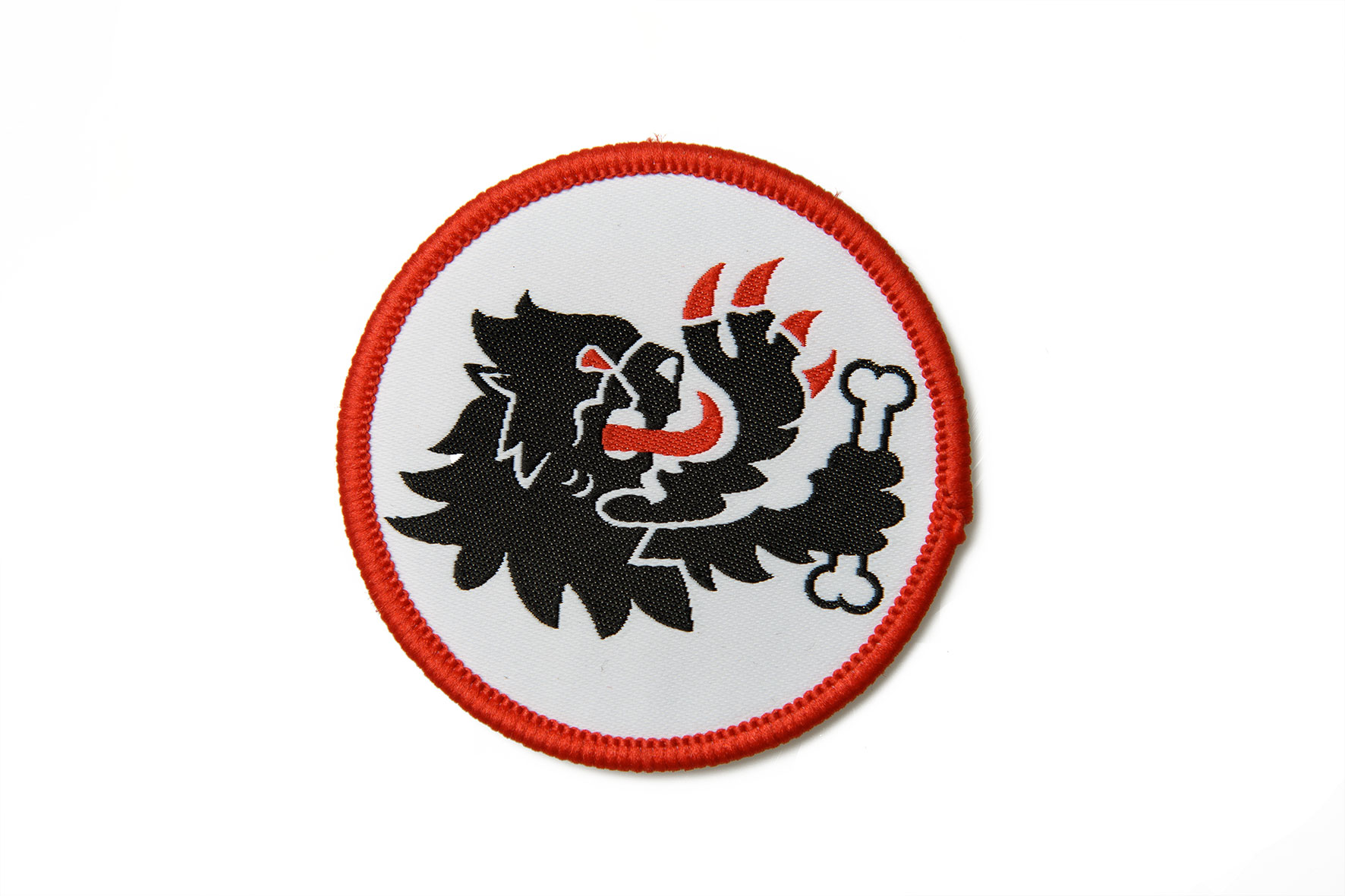 PATCH Malossi LION  HEAD Ø 6 cm with embroidered edge