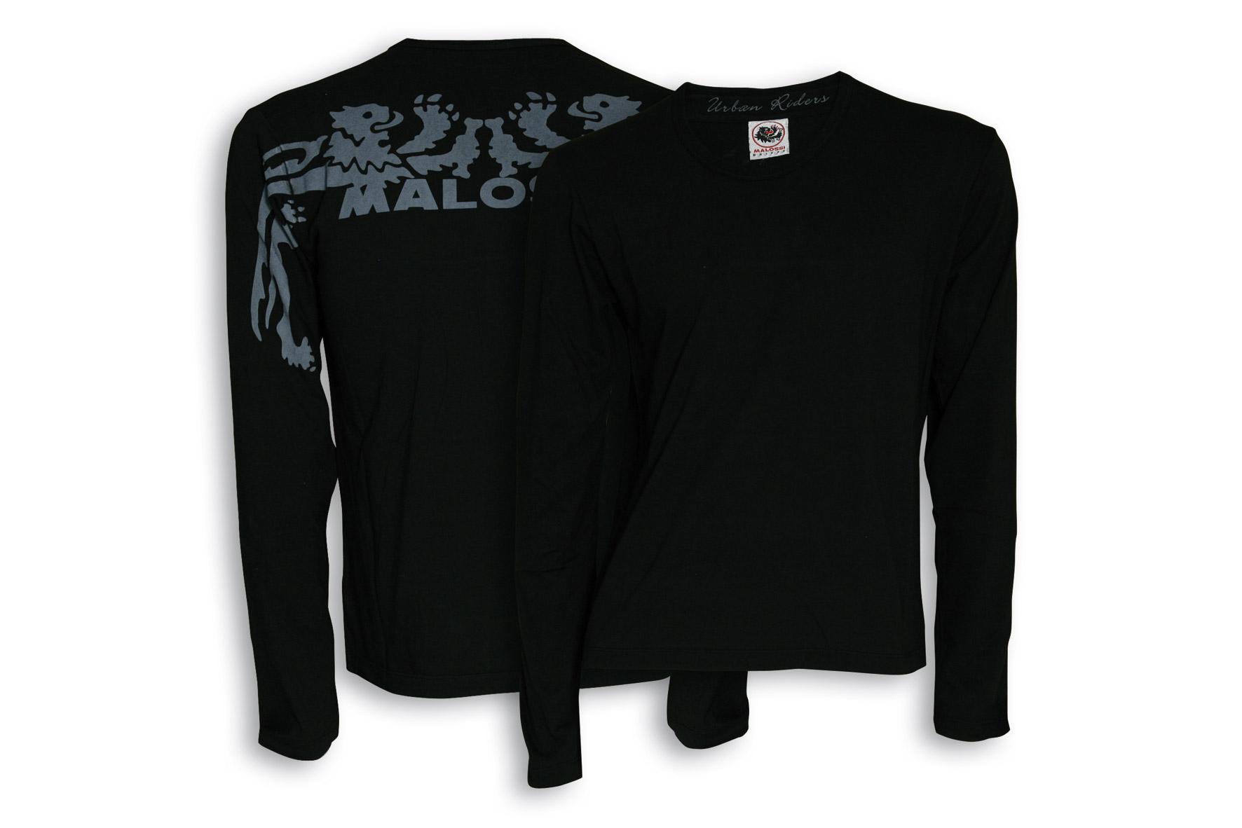 T - shirt Malossi Griffe START con manica lunga di colore nero - taglia M