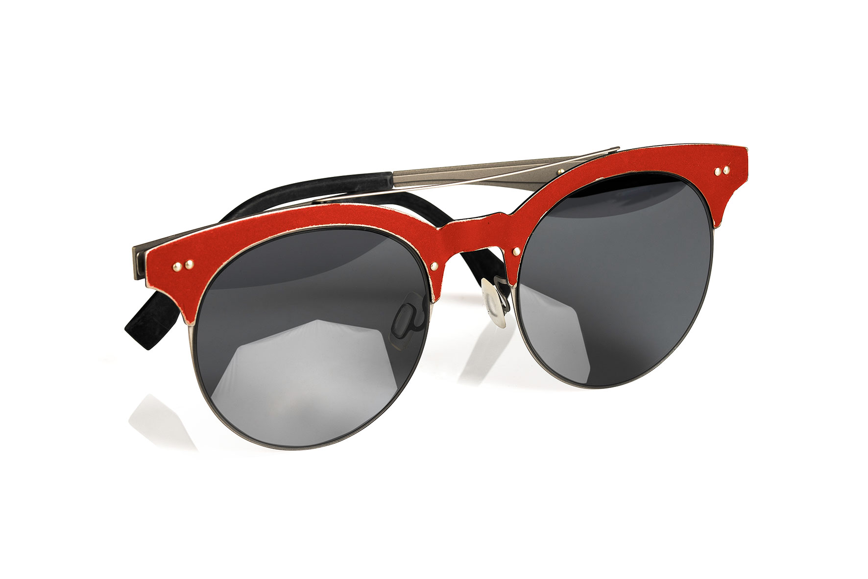 RED GRINDER SUNGLASSES with RED TEMPLES