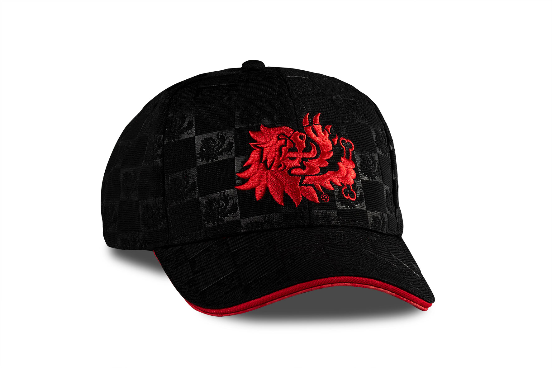 BLACK LION HEAD TEXTURE CAP