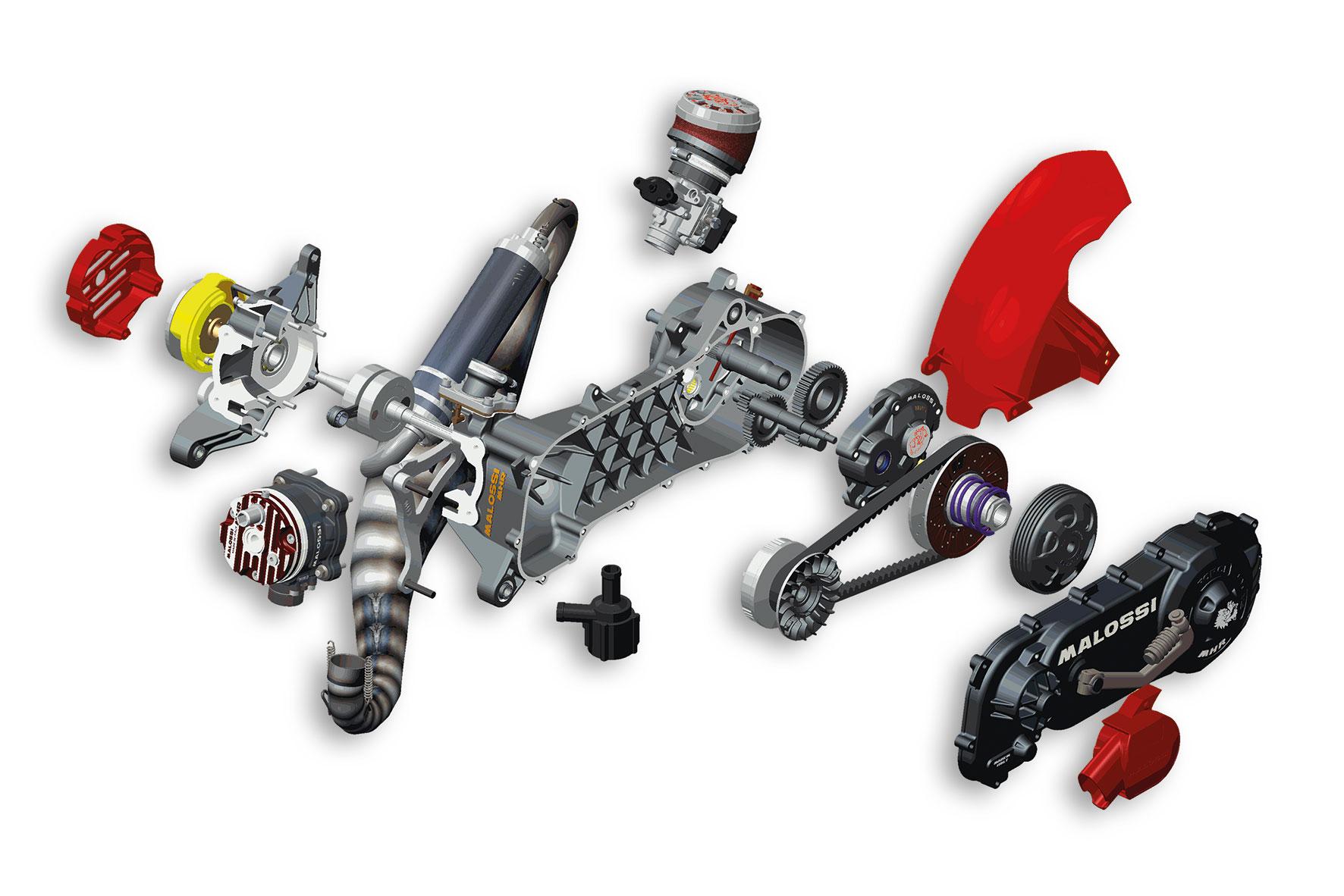 Motore completo RC-ONE 94cc, non assemblato, per motore Piaggio (ruota 12/13)