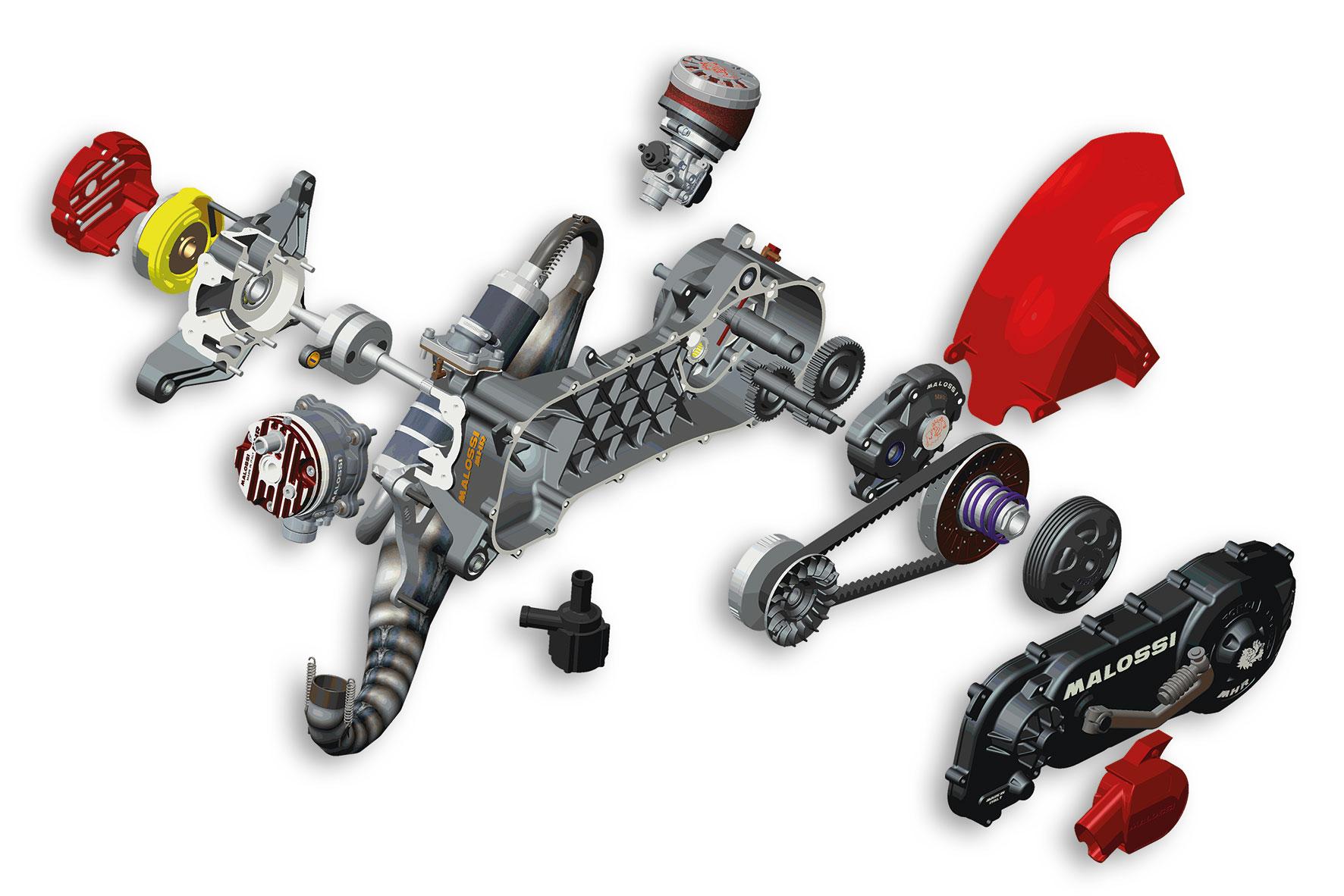 Moteur complet C-ONE 70cc Piaggio démonté (roue 12/13)