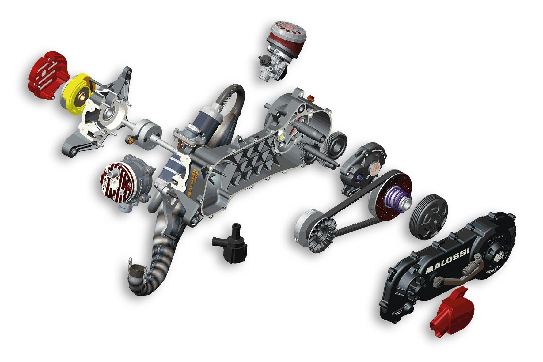 Motore completo C-ONE 70cc, non assemblato, per motore Piaggio (ruota 10)
