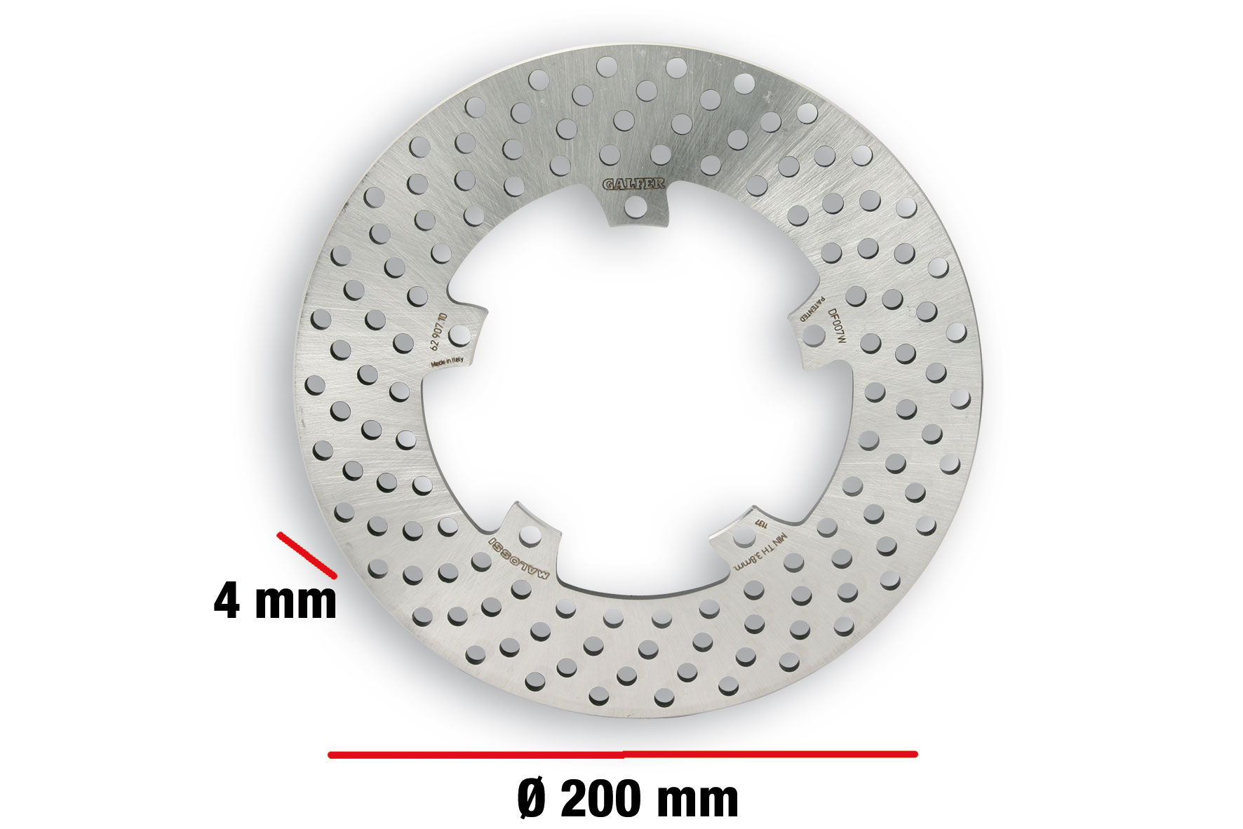 BRAKE POWER DISC MHR ext. Ø 200 - thickness 4 mm
