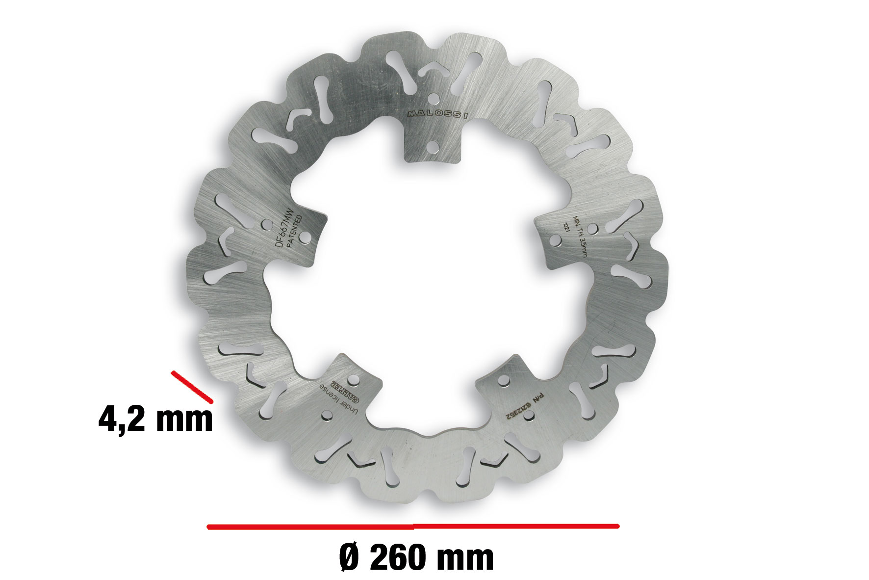 WHOOP DISC Bremsscheibe auss. Ø 260 - Dicke 4,2 mm
