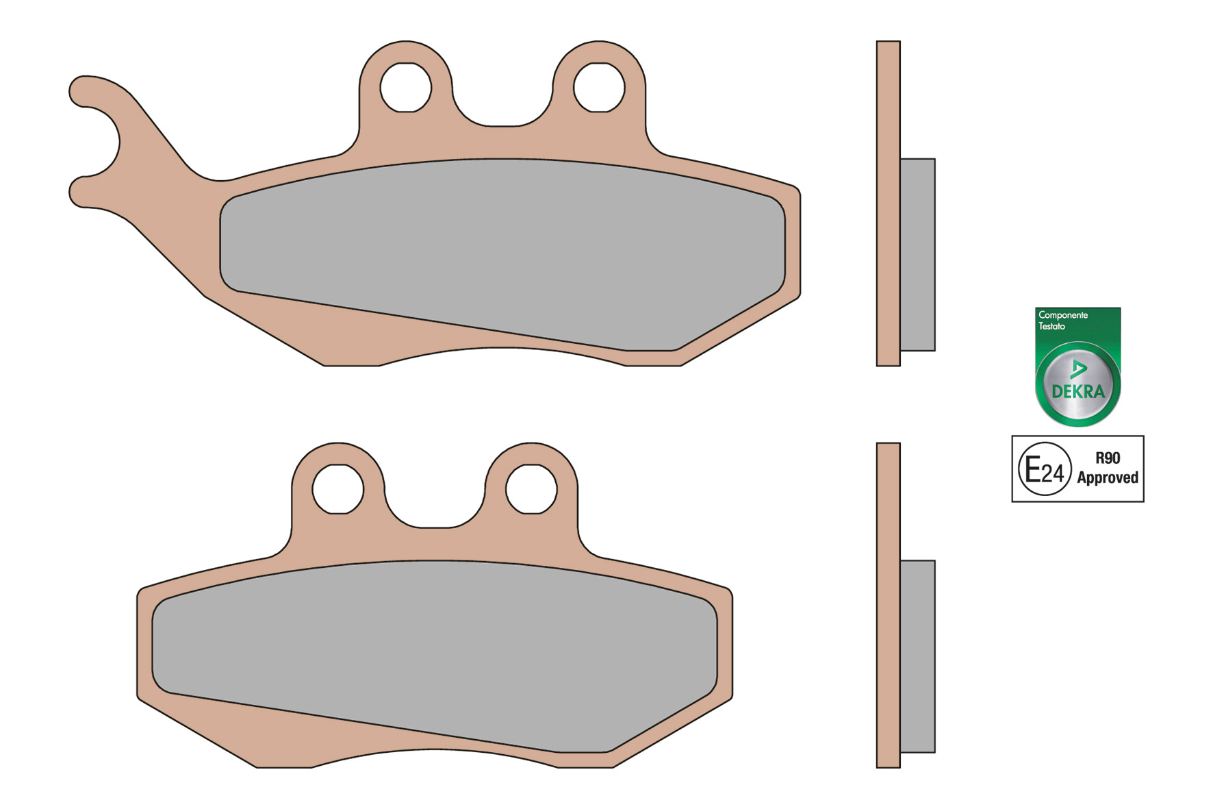 BRAKE PADS MHR SYNT homologated