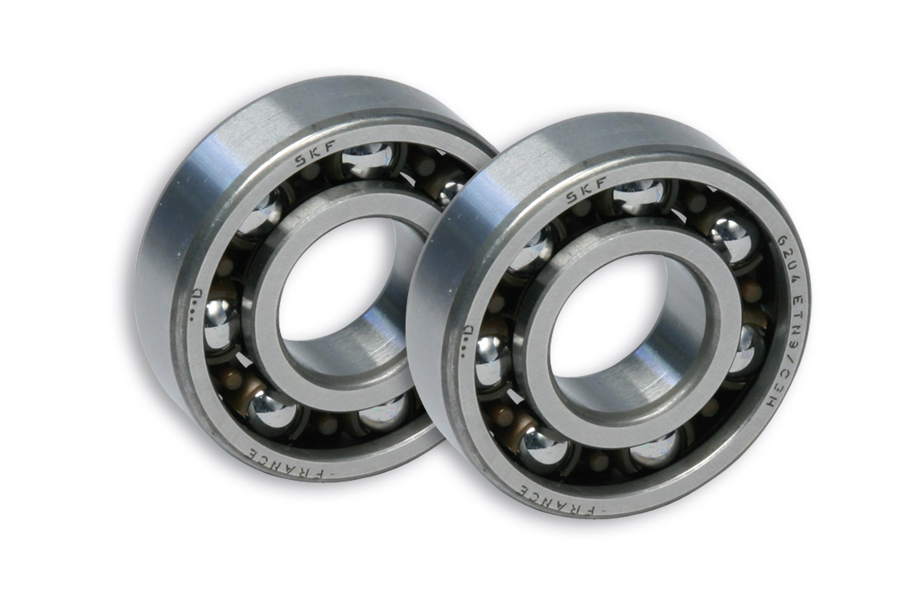 2 ROLLER BEARINGS with BALLS Ø 20x47x14 (C3H) for CRANKSH. moto DERBI-scooter MIN./YAM.50