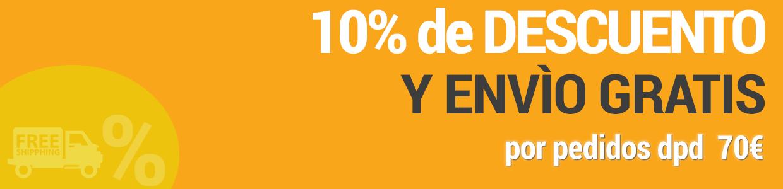 10% de DESCUENTO y envìo gratis